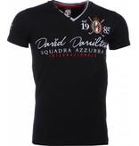 David Mello Broderi Squadra Azzura - T Shirt Herr - 1421Z - Svart