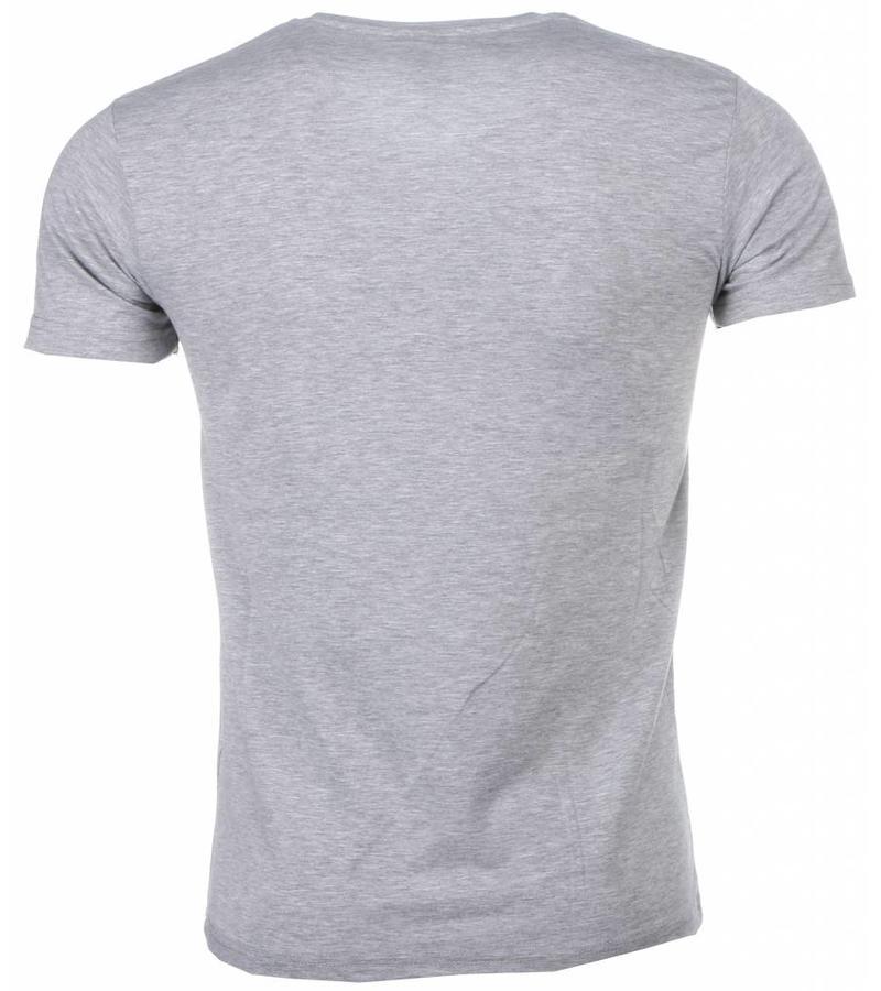 David Mello Blanco Exclusive Basic - Herr T Shirt - DM/T-BE-G - Grå