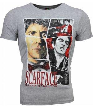 Mascherano Scarface Frame Print - Herr T Shirt - 2008G - Grå