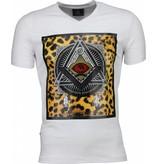 Local Fanatic Mason Coola Tryck På Kläder - Man T Shirt - 1460W -Vit