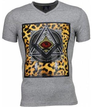 Local Fanatic Mason Coola Tryck På Kläder - T Shirt Herr - 1460G -Grå