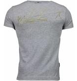 Local Fanatic Malcolm X Time - Herr T Shirt - 4294G - Grå