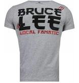 Local Fanatic Bruce Lee Hunter - Herr T Shirt - 4301G - Grå
