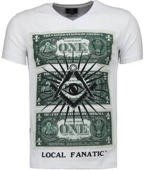Local Fanatic One Dollar Eye - T-shirt - Wit