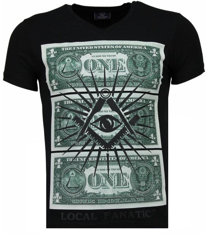 Local Fanatic One Dollar Eye Black Stones - Herr T Shirt - 4302Z - Svart