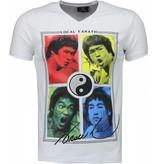 Local Fanatic Bruce Lee Ying Yang - Herr T Shirt - 2315W - Vit