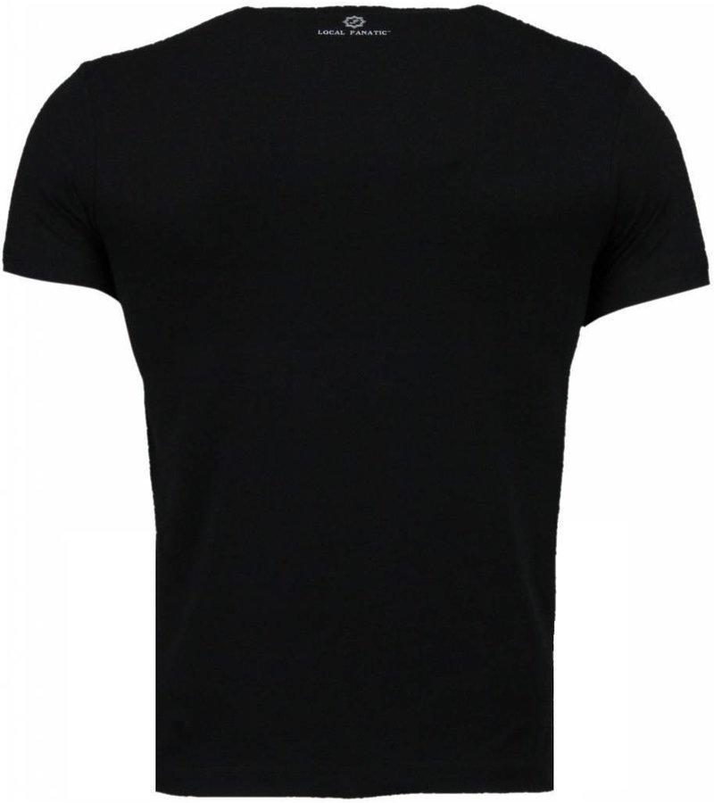 Local Fanatic Golden Boy vs Iron Mike - Herr T Shirt - 2011Z - Svart
