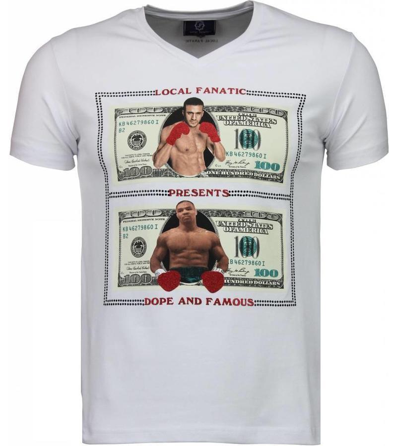 Local Fanatic Golden Boy vs Iron Mike - Herr T Shirt - 2011W - Vit
