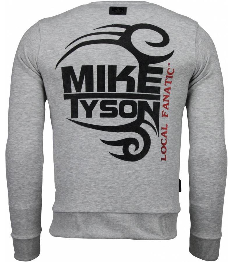 Local Fanatic Mike Tyson Rhinestone - Herrtröjor - 4786G - Grå