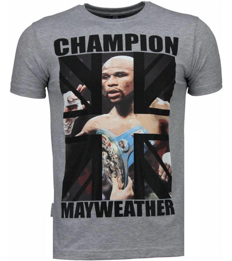 Local Fanatic Mayweather Champion - T Shirt Herr - 4780G - Grå