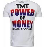 Local Fanatic Mayweather Champion - Herr T Shirt - 4780W - Vit