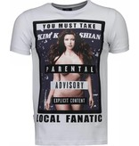Local Fanatic Kim Kardashian Rhinestone - Herr T Shirt - 4779W - Vit