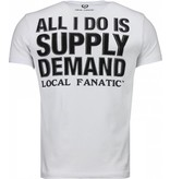 Local Fanatic Al Capone Rhinestone - Herr T Shirt - 4784W - Vit