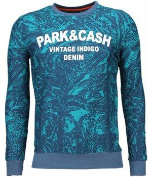 Black Number Park & Cash Sweater - Tryck På Tröja - JX537G - Grön