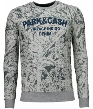 Black Number Park & Cash Sweater - Herr Tröja - JX537GR - Grå