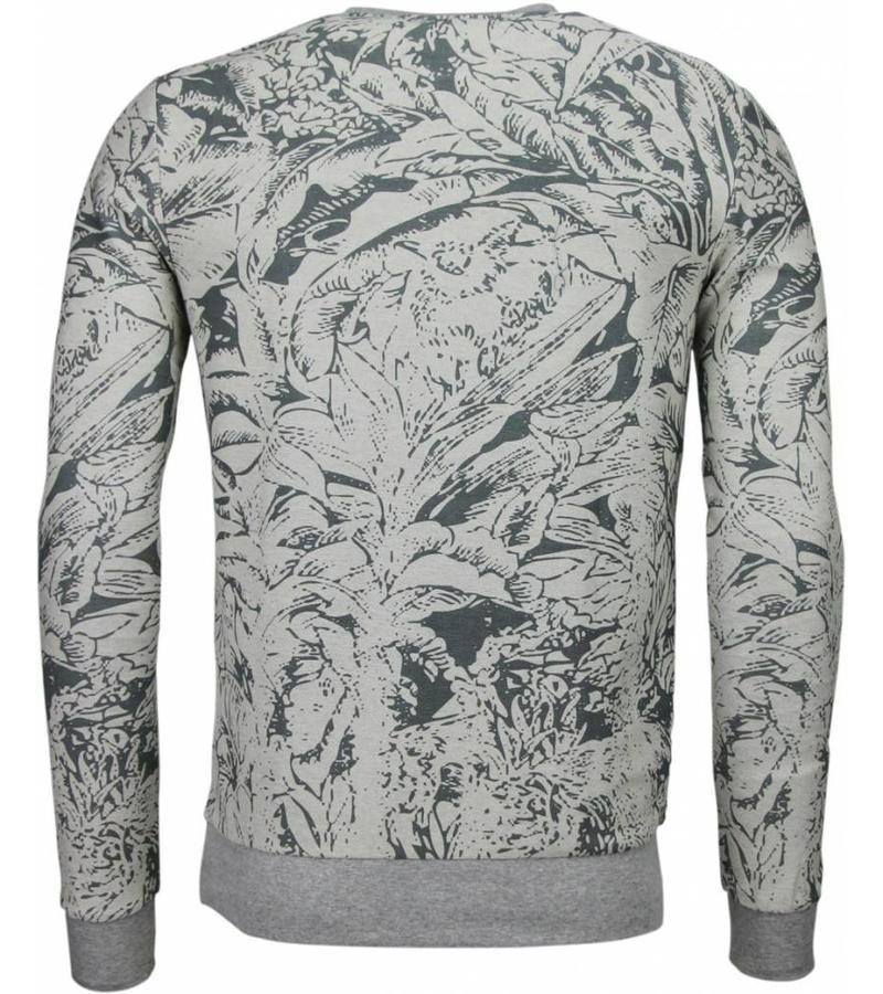 Black Number Park & Cash Sweater - Herr Tröja - JX537GR - Grå