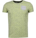 Black Number Blad Sommar Motiv - T Shirt Herr - JX591GL - Gul
