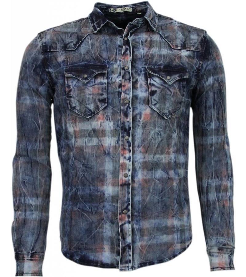 Enos Jeansskjorta slim fit - Herr skjortor på nätet - CJ-L-9025 - Blå