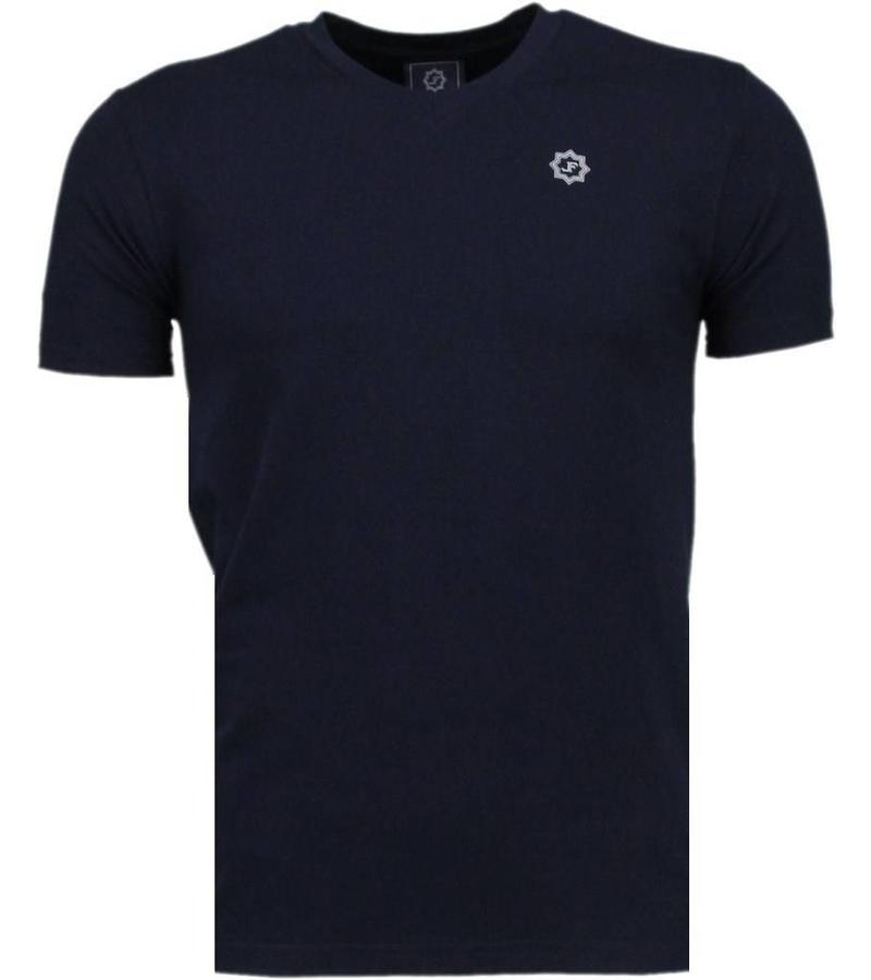 Local Fanatic Basic Exclusieve Local Fanatic - T Shirt Man - 5105B - Blå