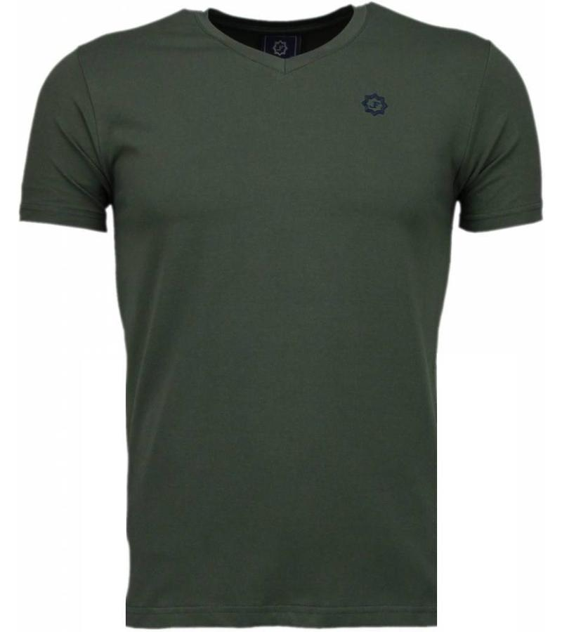 Local Fanatic Basic Exclusieve Local Fanatic - Man T Shirt - 5105G - Grön