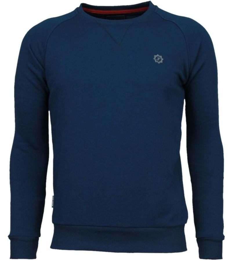 Local Fanatic Exklusiva Basic Sweater - Man Tröja - 5029N - Marinblå