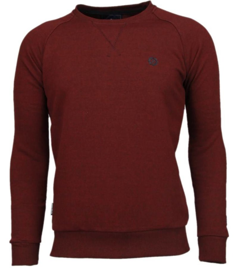 Local Fanatic Exklusiva Basic Sweater - Tröjor Män - 5029B - Bordeaux
