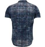 Enos Jeansskjorta kortärmad herr - Prickig herrskjorta - CJ-K-9025 - Blå