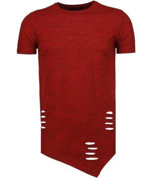 Tony Brend Sleeve Ripped - T-Shirt - Rood