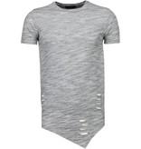 Tony Brend Sleeve Ripped - T-Shirt - Grijs