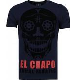 Local Fanatic El Chapo Flockprint - T Shirt Herr - 5084N - Marinblå
