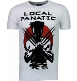 Local Fanatic Wolverine Flockprint - Herr T Shirt - 5089W - Vit