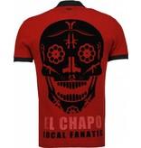 Local Fanatic El Chapo Flockprint Polo - Herr Polo - 5103B - Bordeaux