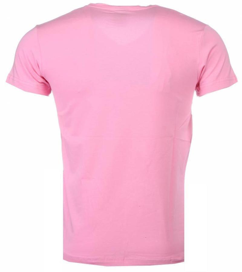 Mascherano Romans Billiga Sommarkläder - T Shirt Herr - Ros