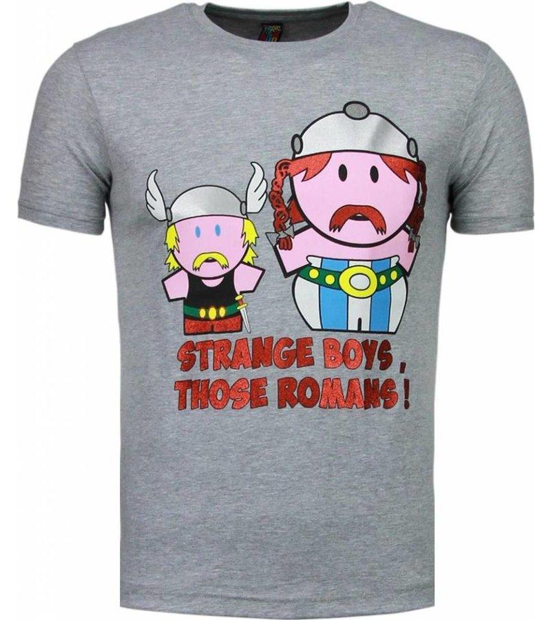 Mascherano Romans Billiga Sommarkläder - Herr T Shirt - Grå