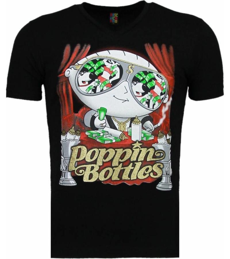 Mascherano Poppin Stewie - T-shirt - Zwart