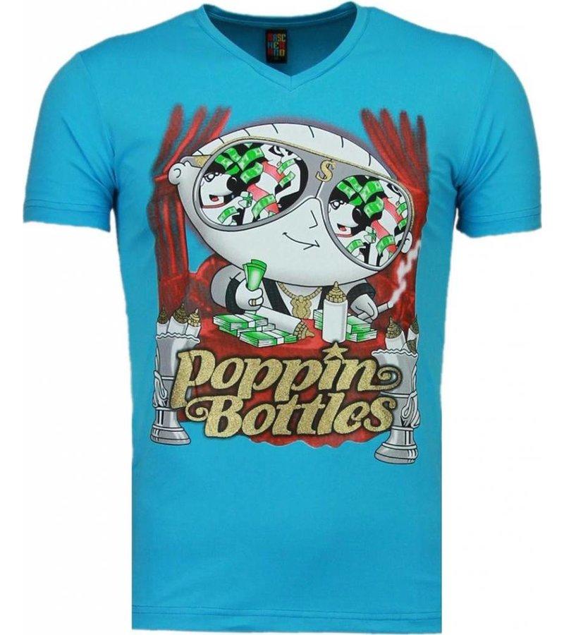 Mascherano Poppin Stewie - Man T Shirt - 1498B - Blå