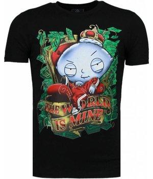 Mascherano Rich Stewie - T-shirt - Zwart