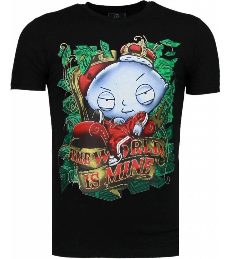 Mascherano Rich Stewie Money World - Man T Shirt - 2005Z - Svart