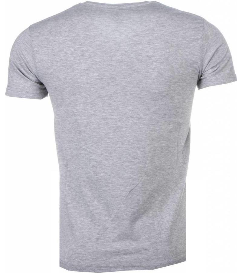 Mascherano Rich Stewie Money World - T Shirt Herr - 2005G  - Grå