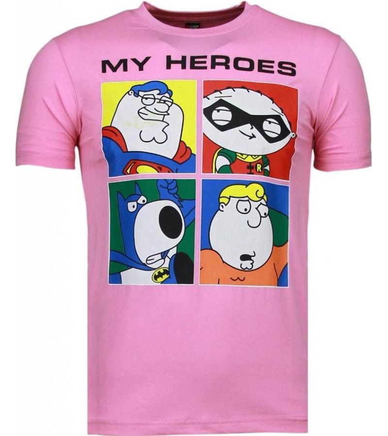 Mascherano Super Family My Heroes - Herr T Shirt - 51001R - Ros