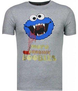 Mascherano Cookies Roliga T shirts Online - T Shirt Herr - 51005G - Grå