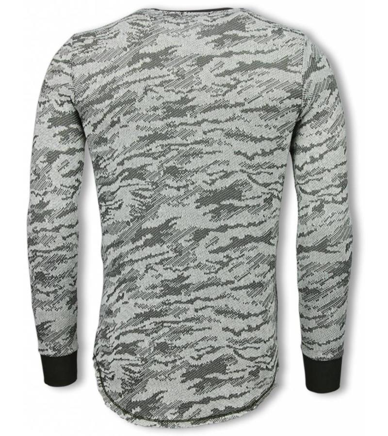 Uniplay Army Look Long Fit Sweater - Tröja Herr  - UP-48G - Grön