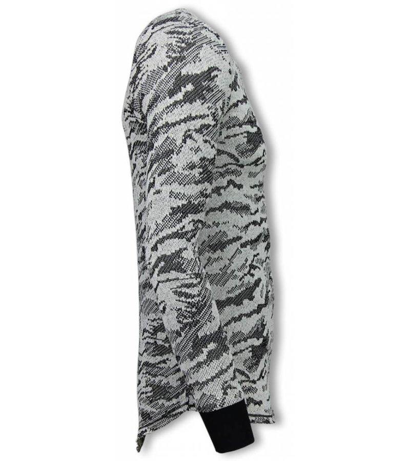 Uniplay Army Look Long Fit Sweater - Herr Tröja - UP-48Z - Svart