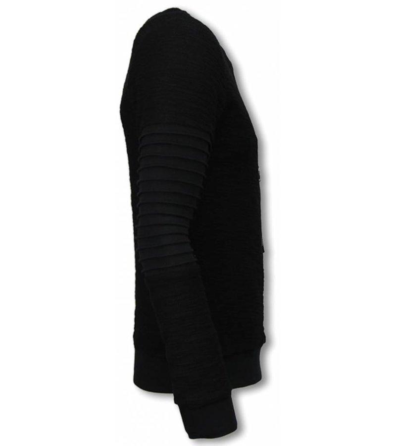 John H Ribbel Arm Kevlar Pocket - Sweater Men - S09178Z - Svart