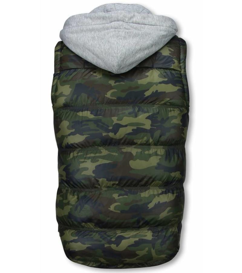 Yole Camouflage Body Warmer - Mäns Kroppsvärmare - FM-2851 - Grön