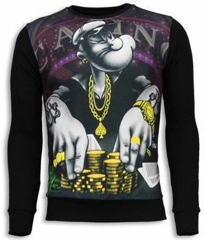 Local Fanatic Casino Popeye Sweater - Man Tröja - 5794Z - Svart