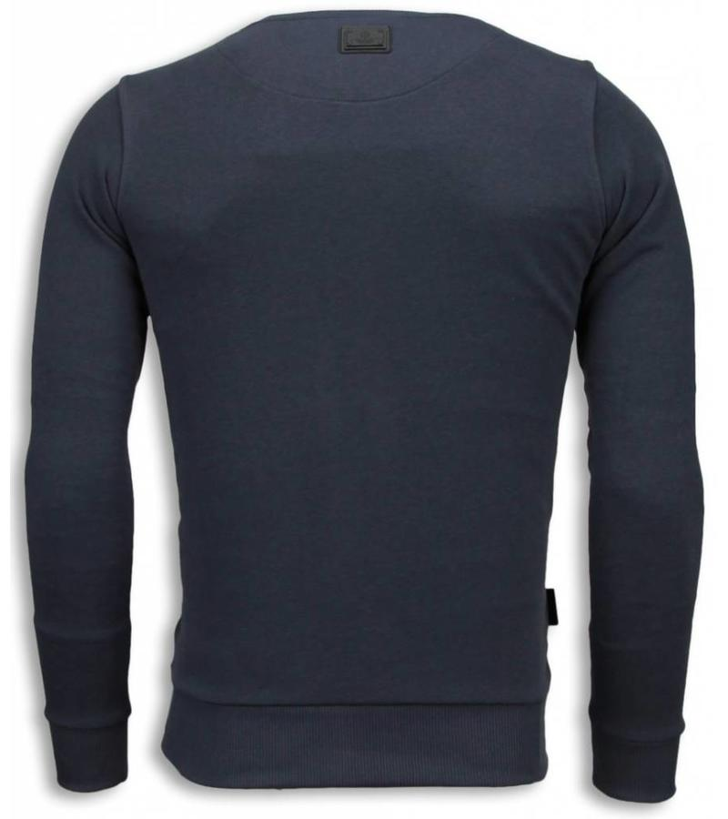 Local Fanatic Casino Popeye Sweater - Tryck På Tröja - 5794G - Mörkgrå