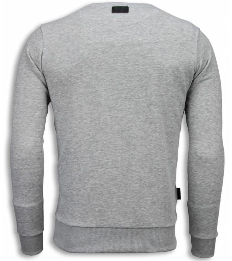 Local Fanatic Muhammad Ali Newspaper Sweater - Herr Tröja - 5787G - Grå