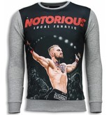 Local Fanatic Notorious McGregor Sweater - Herr Tröja - 5786G - Grå