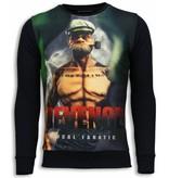 Local Fanatic Popeye Revenge Sweater - Man Tröja - 5790Z - Svart